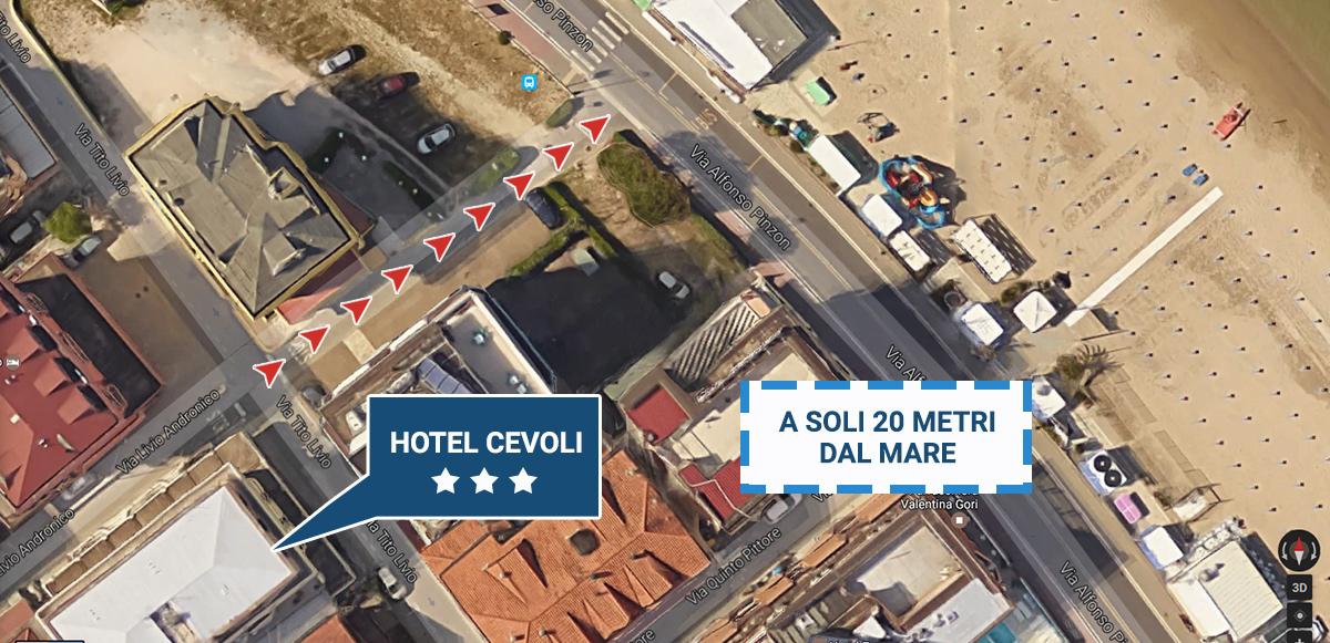 Hotel Cevoli a soli 20 metri dal Mare